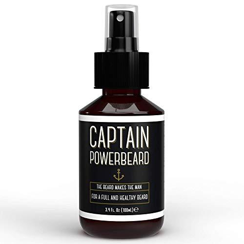 Bartwuchsmittel und Bartpflege von Captain Powerbeard I Unterstützt Männer Bartwuchs 100ml I Natürliche &...
