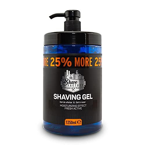 the shave factory ® rasiergel   Shaving Gel für Männer 1250ml Nassrasur   Rasieren   feuchtigkeitspendend   25% mehr Gratis Inhalt   für die traditionelle Rasur