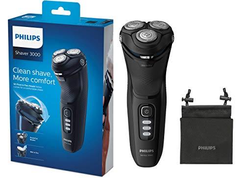 Philips S3233/52 Elektrischer Trockenrasierer Series 3000 mit Powercut-Schersystem Schwarz