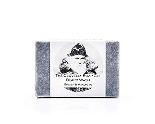 Clovelly Soap Co Natürliches handgemachtes Bartshampoo Mandarine & Ingwer 100g