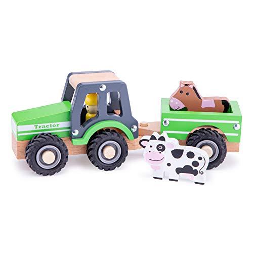 New Classic Toys - 11941 - Spielfahrzeuge - Traktor mit Anhänger, grün