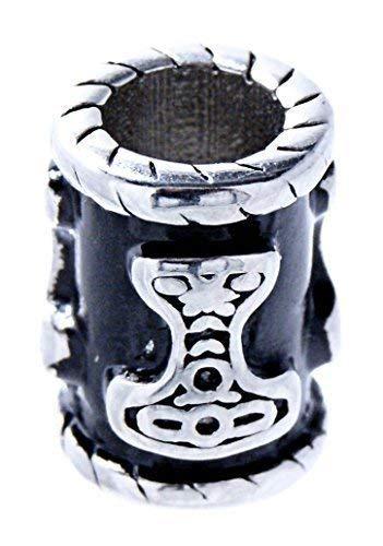 Kiss of Leather Bartperle Haarperle Edelstahl Thorshammer 6mm