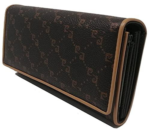 PIERRE CARDIN Geldbörse für Damen, schön, groß, geräumig, Leder, Rfid, Geschenk, Geldbörse mit Münzfach, Geldbörse für Mädchen, braun,