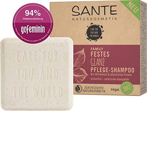 Festes Shampoo von SANTE Naturkosmetik, Glanz-Pflege Shampoo Bar mit Bio-Birkenblatt & pflanzlichem Protein,...