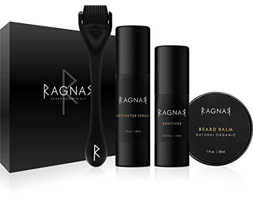 RAGNAR - Bart Set | Bartwuchsmittel für Männer | Bartwuchs fördern | Bartlücken schließen |...