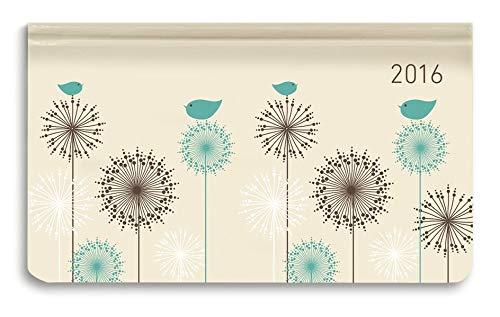 Ladytimer Pad Little Birds 2016 - Taschenplaner / Taschenkalender quer (16 x 9) - Weekly - 128 Seiten
