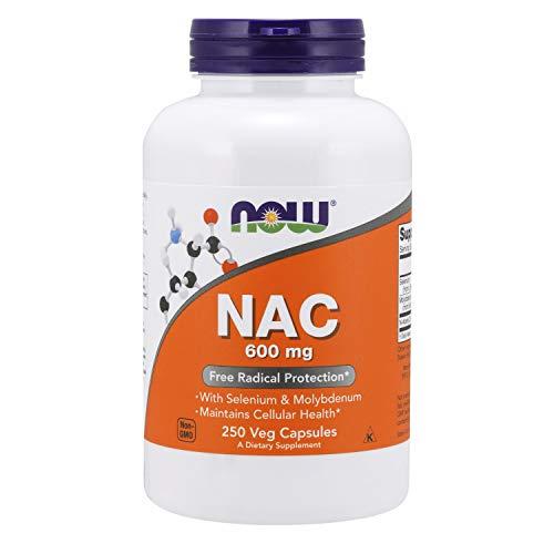 Now Foods, NAC ( N-Acetyl Cysteine ), 600 mg Depot, Nahrungsergänzung, 250 vegetarische Kapseln, sojafrei, glutenfrei