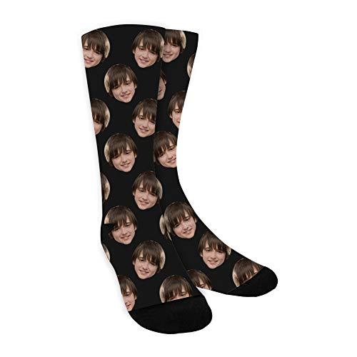 MissChic Socken Personalisiert Foto,Lustige Socken, Socken Individuell, mehrere Gesichter,Legen Sie Ihr Gesicht auf Socken für Unisex, Geschenk für Freuen, Herren, Freundin, Mutter, Schwester