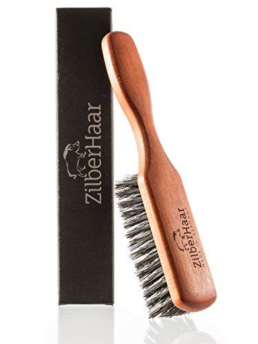 Zilberhaar Bartbürste (Weiche Borsten) | 100% Wildschweinborsten Mit Birnbaumholz | Funktioniert Mit Allen...