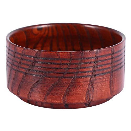 Yosoo Holz Rasierseife Schüssel Tasse Werkzeug Natur für Mann Rasierer für Cleansing Foam rund