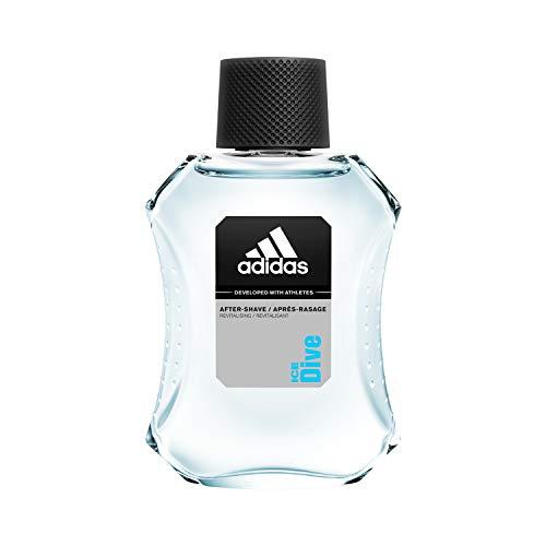 adidas Ice Dive After Shave – Revitalisierendes Rasierwasser mit holzig-aromatischem Herrenduft – Pflegt die Haut nach der Rasur & verhindert Hautirritationen – 1 x 100 ml