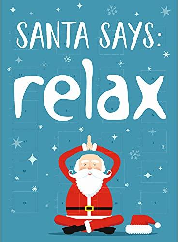 Windel Adventskalender – Relax Santa – Yoga Weihnachtsmann – Schokolade, 75g