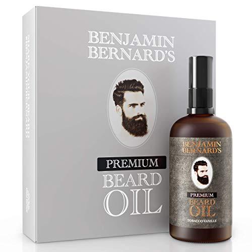 Premium Bartöl von Benjamin Bernard - Bartpflege für Männer - Mit ätherischen Ölen, Vitamin E -...