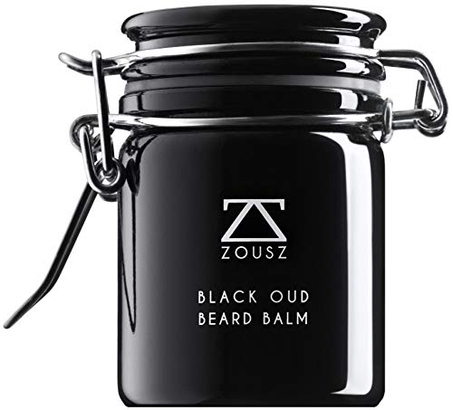 ZOUSZ Black Oud Vegan Bartbalsam - Klassische Haut- & Bartpflege-Butter für Männer mit Holzduft - Avocado-,...