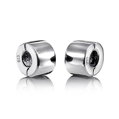 MATERIA Beads Stopper Clip 925 Silber Gravur Schmuck für 3mm Bead Armband #705