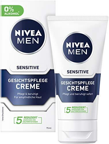 NIVEA MEN Sensitive Gesichtspflege Creme im 2er Pack (2 x 75 ml), Feuchtigkeitscreme für Männer mit empfindlicher Haut, beruhigende Gesichtscreme