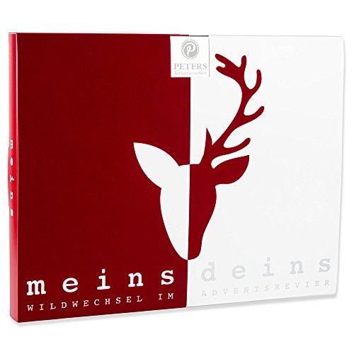 Peters Adventskalender 'Meins & Deins' für Paare | Pärchen Adventskalender mit edlen Pralinen | Weihnachtsgeschenk für Paare