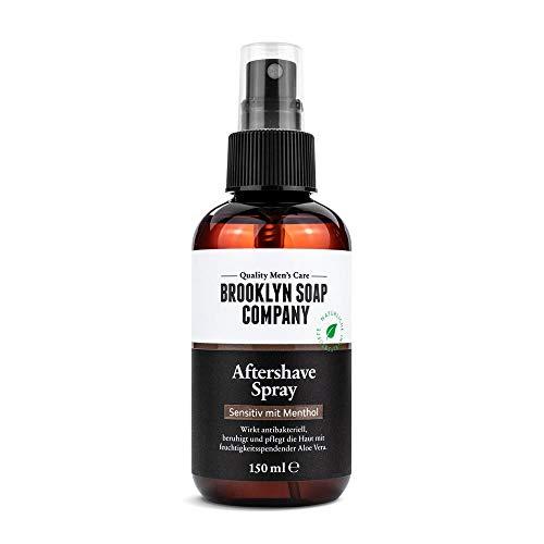 Natürliche Männerpflege: Aftershave Spray - 100ML beruhigt die Haut und wirkt antibakteriell Natürliche Pflege der BROOKLYN SOAP COMPANY ® Geschenkidee als Geschenk für Männer