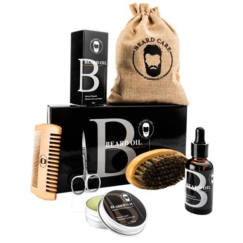 LB Products ™ Bartpflegeset l Bartöl l Bartbalsam l Bartkamm l Bartbürste I Geschenkset I Geschenkset I...