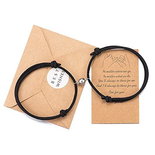 Wilacia Paar Armbänder Magnetic Couple Connecting Matching Relationship Armbänder für Paare Geschenke für...