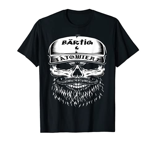 Herren Bärtig & Tätowiert-Black Edition-KULT-'BIG HEAD'-Tattoo-Bart T-Shirt
