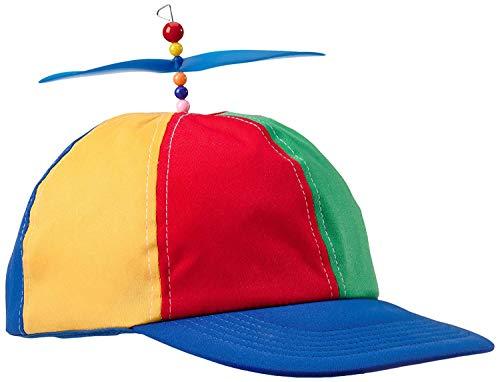 Boxer Gifts Hubschrauber Propellermütze   Unisex Erwachsene   Regenbogen, Nerd, Party Kostüm   lustiges Wichtel-Geschenk, Cotton, Rot