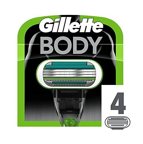 Gillette Body Rasierklingen für Körperrasierer mit Hautschutz, 4 Ersatzklingen