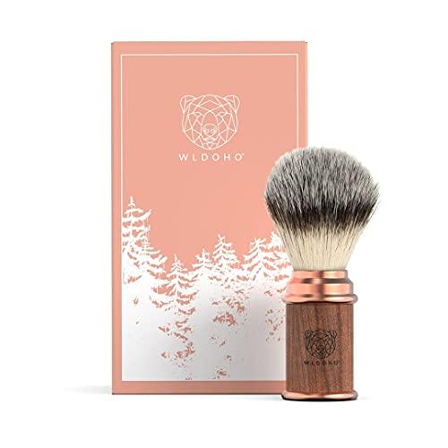 WLDOHO® Rasierpinsel mit Holzgriff für Rasierhobel Rasur