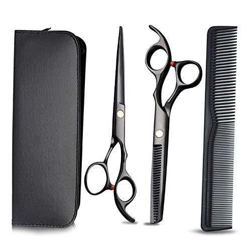 Haarschere 3er Set, Hair Scissors Extra Scharf Profi, Friseurschere Mit Einseitiger Mikroverzahnung,...