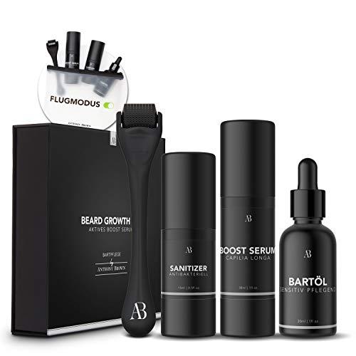 Anthony Brown® Beard Growth Kit - belegte Wirkung für mehr Bartwuchs durch Capilia Longa - Bartwuchsmittel...