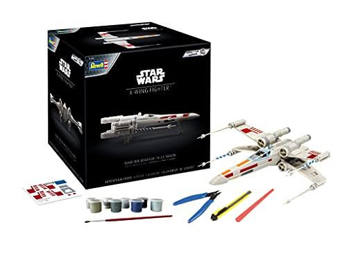 Revell 1035 Adventskalender Modellbau Star Wars X-Wing Fighter mit dem Easy-Click-System Zubehör, Weiß, 21,8 cm