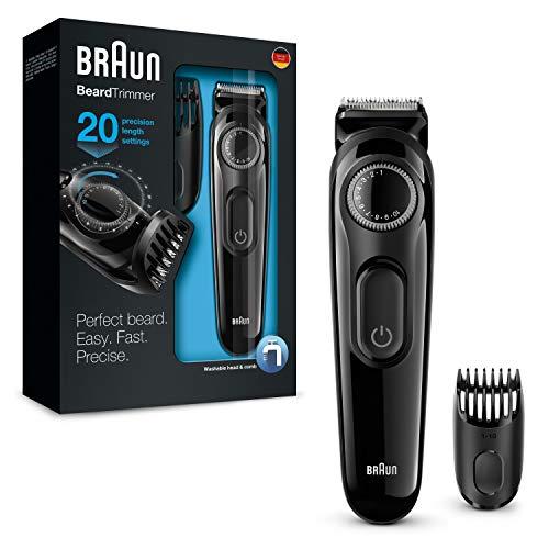 Braun Barttrimmer/Bartschneider BT3022, mit 20 Längeneinstellungen, schwarz