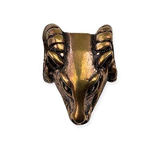 Toms-Silver Bartperle Widder aus Bronze Haarperle