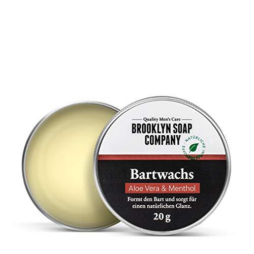 Natürliche Bartpflege: Beard Wax Bartwachs (20 gr) Naturkosmetik der BROOKLYN SOAP COMPANY für Bartstyling...