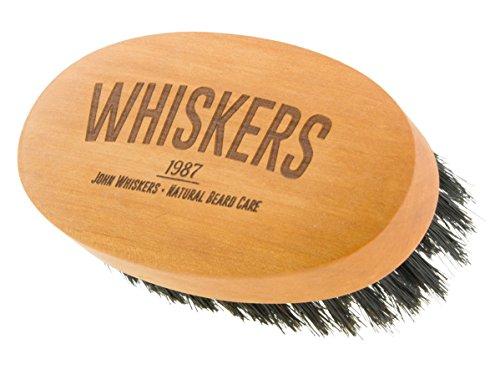 John Whiskers Bartbürste - Made in Germany - reine Wildschweinborsten – Härtegrad Medium - 90x50mm -...
