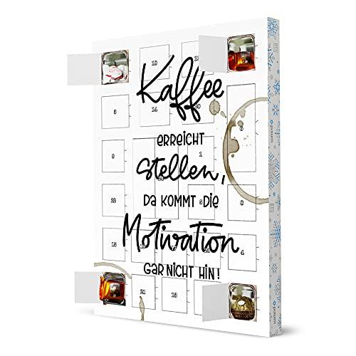 artboxONE Adventskalender XXL mit Pralinen von Ferrero Kaffee und Motivation Adventskalender Typografie