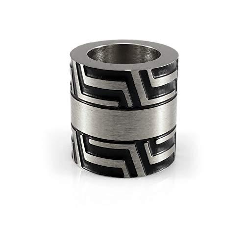 Moderne Edelstahl Bartperle Silber - Innendurchmesser 6 oder 8 mm