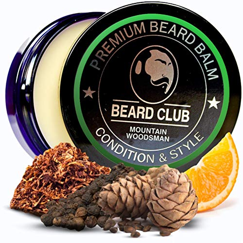 Premium Qualitäts Balsam für den Bart | Mountain Woodsman Natürlich Bartbalsam | Bart Conditioner & Weichmacher, um Ihren Bart zu formen und zu stylen, während Sie Bart Juckreiz & Flakes stoppen