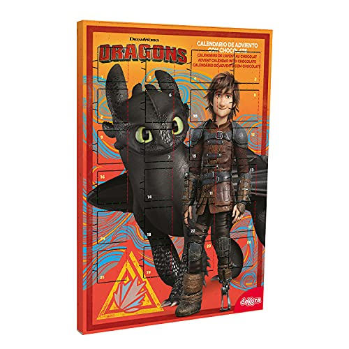 Dekora - Adventskalender Schokolade | Adventskalender Kinder How to Train Your Dragon - 50 g