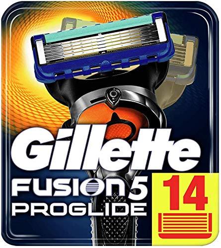 Gillette Fusion 5 ProGlide Rasierklingen mit Trimmer für Präzision und Gleitbeschichtung, 14 Ersatzklingen