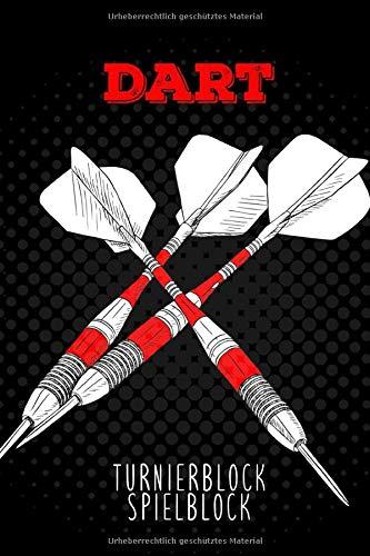 Dart Turnierblock Spielblock: Darts Notizbuch A5   Notizheft Dart   Dart Zubehör   Dart Scorerboard   Dartrechner   Outchart   Geschenk für Dartspieler   110 Seiten