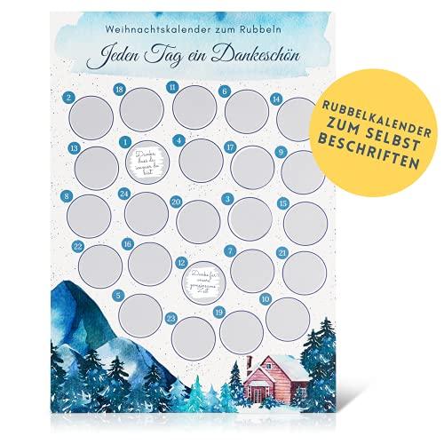 Tim und Jane Rubbel - Adventskalender selber basteln mit Rubbelstickern | DIY Adventskalender 2021