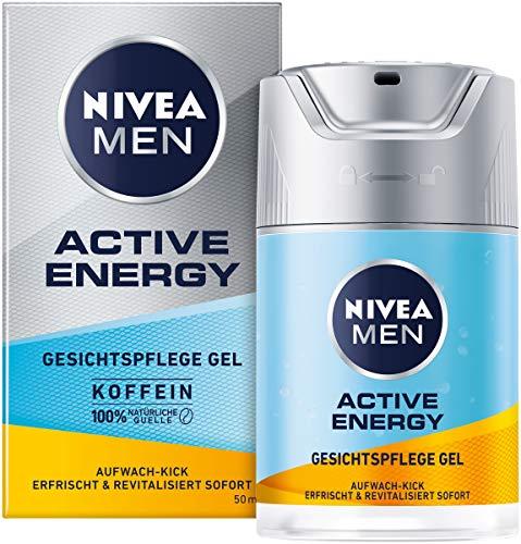 NIVEA MEN Active Energy Gesichtspflege Gel (50 ml), revitalisierende Gesichtscreme für Männer, schnell einziehende Feuchtigkeitscreme gegen Zeichen von Müdigkeit