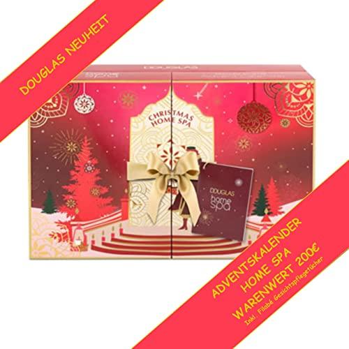 DOUGLAS Adventskalender 2021 HOME SPA Beauty, NEUHEIT, Frauen + Mädchen Kosmetik & Pflege Advent Kalender, 24 Geschenke Wert 200 €, Skincare Frau, Adventkalender Damen
