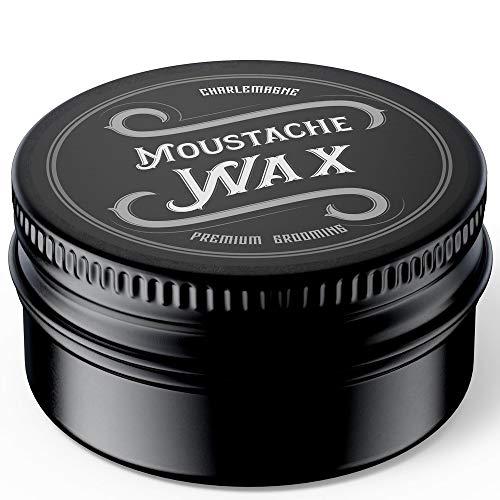 Charlemagne Moustache Wax - Schnurrbart Wachs - Bart Wachs Bartwichse Schnurrbart - Natürliche Inhaltsstoffe...