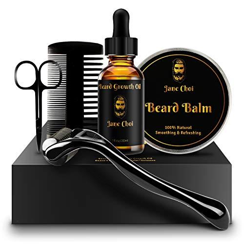 Bartwachstum Kit, Xins-Yonha Bartpflege Set für schnelles Wachstum des Bartes, Bart Derma Roller +...
