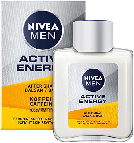 NIVEA MEN Active Energy After Shave Balsam (100 ml), revitalisierendes After Shave, Hautpflege nach der Rasur...