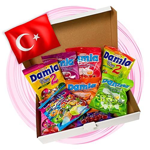 ALL IN CANDY | Damla Türkische Süßigkeiten Party Box | 9 Teile Süßigkeiten aus Türkei | Halal Produkte | Vegan | Süssigkeiten box zum naschen oder Perfekte Geschenkidee | TOP Bestseller Candy Box