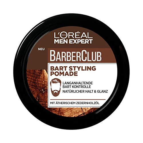 L'Oréal Paris Men Expert Bart Pomade und Haarwachs, Natürliches Finish, Barber Club Bart & Haar Styling...