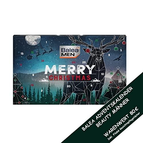 Balea Adventskalender 2021 Männer Beauty- 24 Pflege Beauty Kosmetik Advent Kalender für den Mann, Weihnachtskalender Wert 80 €, Herren